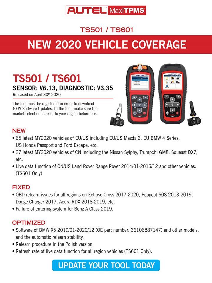 TPMS Update-TS501 TS601