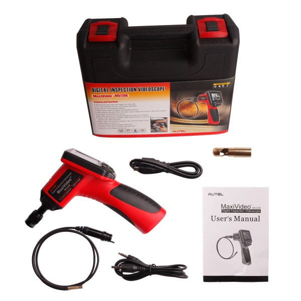 100% Original Autel MaxiVideo MV208 with 5.5mm Diameter Imager Head Inspection Camera Digital Videoscope Buy SO267 as Replacement
