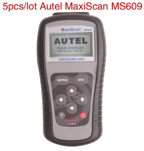 5pcs/lot Wholesale Price Original Autel MaxiScan MS609 OBDII Scan Tool with ABS Capability