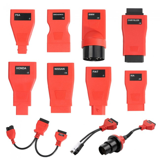 Full Set OBDII Cables and Connectors of Autel MaxiDas DS808 (Only Cables and Connectors)