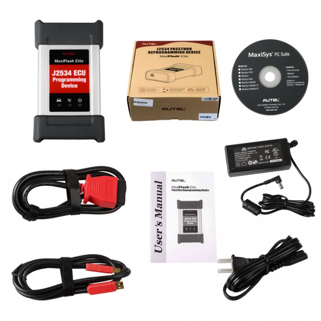 100% Original MaxiFlash Elite Autel MaxiFlash Pro J2534 ECU Programming Device Works with Maxisys MS908/MS908P