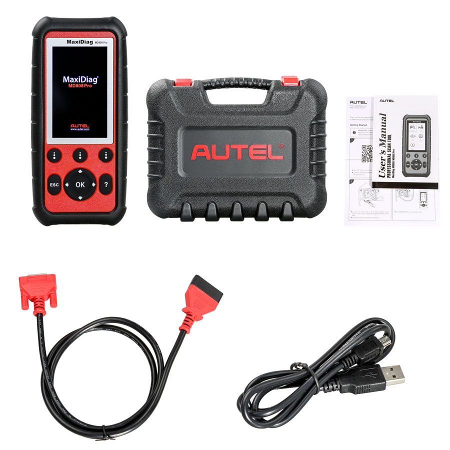 [Flash Sale] 100% Original Autel MaxiDiag MD808 Pro All System Scanner  Support BMS/Oil Reset/ SRS/ EPB/ DPF/ SAS/ ABS