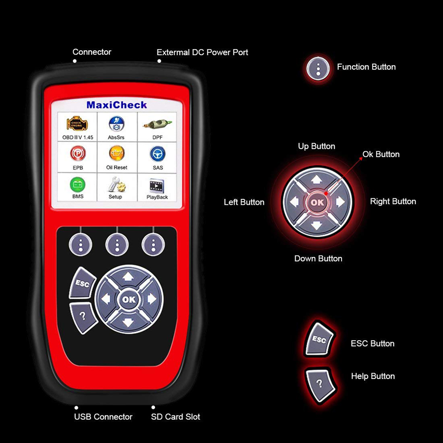 The Autel MaxiCheck Pro Using Description