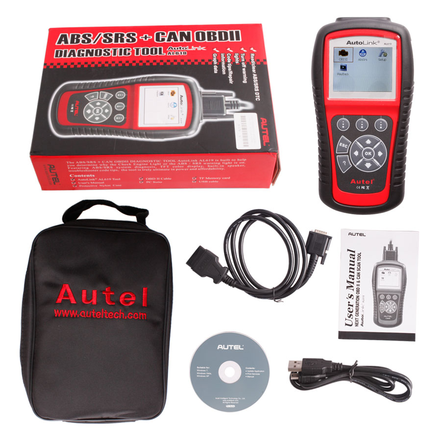 Autel AutoLink AL619 Reset Engine ABS SRS Codes on Honda 2005