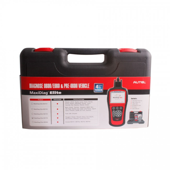 100% Original Autel MaxiDiag Elite MD704 Four System with Data Stream Update Online
