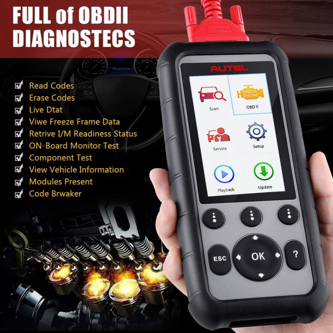[Ship from UK] [Multi-Language] 100% Original Autel MaxiDiag MD806 Pro Full System Diagnostic Tool As Same As Autel MD808 Pro