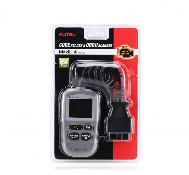 100% Original Autel MaxiLink ML329 Code Reader Engine Fault CAN Scan Tool (Advanced Version of Autel AL319)