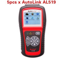 5pcs/lot Wholesale Price Autel AutoLink AL519 OBDII EOBD & CAN Scan Tool