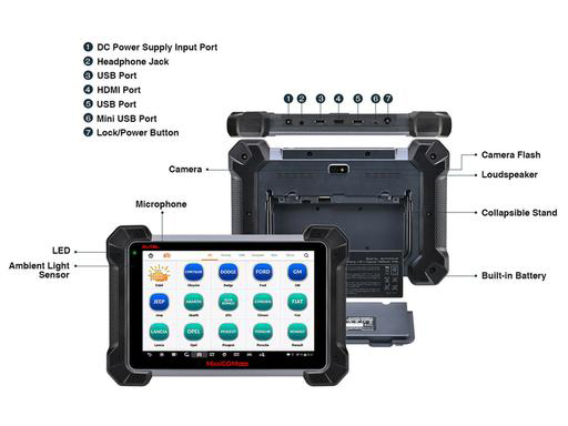 Programming for Benz/&BMW and Video Inspection Autel MaxiCOM MK908P Diagnostic Scanner with MaxiVideo Scope MV108 Including ECU Coding
