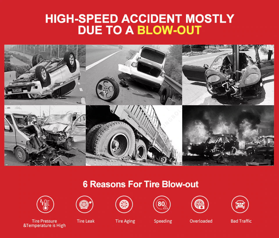 high speed accident mostly duet to a blow-out