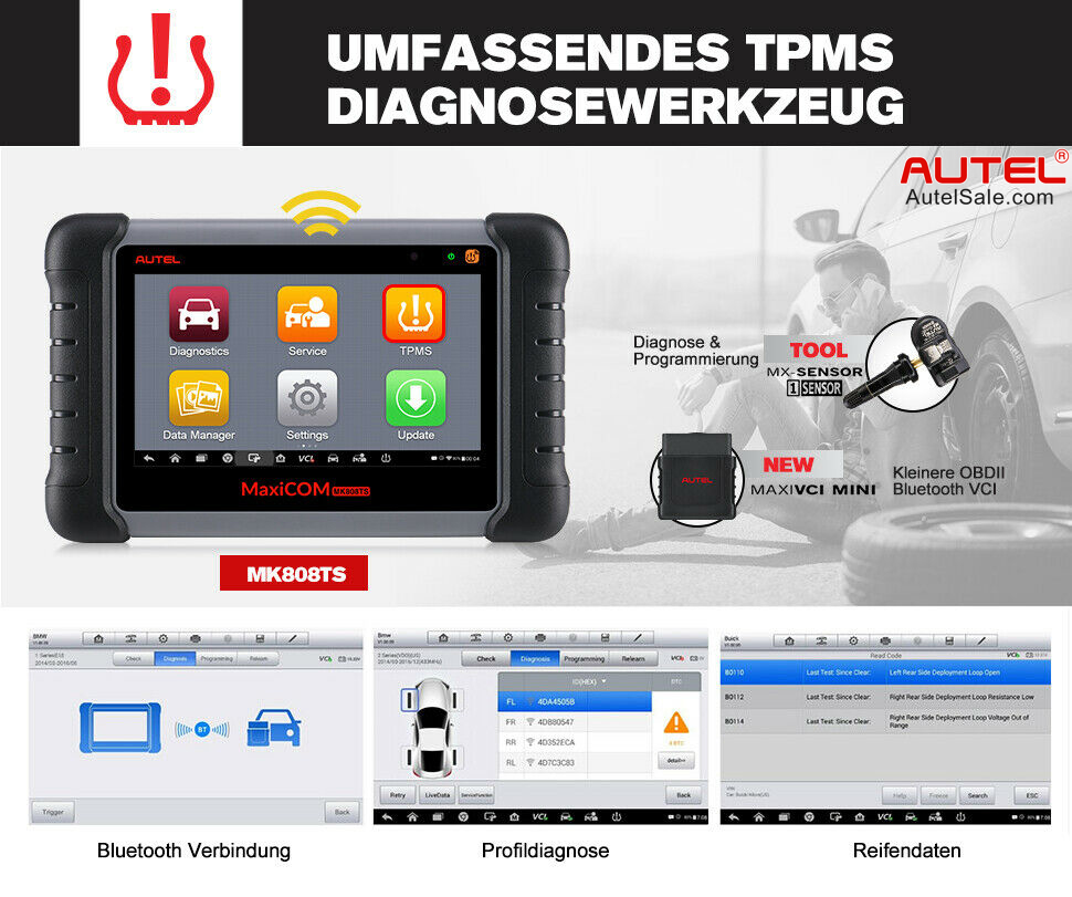 Complete TPMS Functions for Boost in TPMS Work