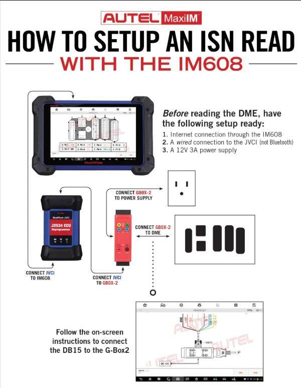 How to Setup An ISN Read with the IM608?